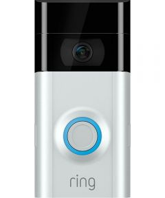 Ring Video Doorbell 2 Security Camera, Satin Nickel