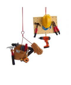 Resin Handyman Tools Christmas Ornament, Assorted Tool Board or Tool Belt (Sold Individually)