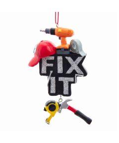 "Resin ""Fix It"" Christmas Ornament"