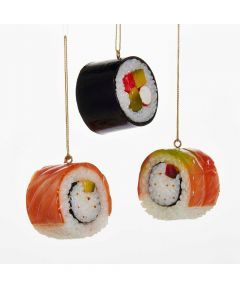 Rubber Sushi Christmas Ornament, Assorted (Sold Individually)