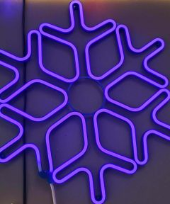 24 in. Lighted Neon Blue Christmas Snowflake