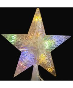 LED Dual Color Star Christmas Tree Topper