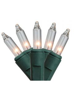 Clear Heavy Duty 150 Count Christmas Lights, Green Wire