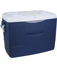 Water Cooler, 50 qt, Plastic, Modern Blue