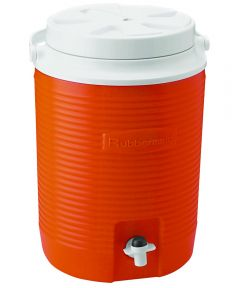 Victory Water Cooler Jug, 2 gal, Polyethylene, Orange