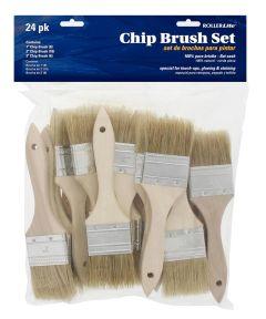 RollerLite 24-Piece 100% Natural Bristle Chip Brush Set