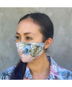Reusable Fabric Face Mask, Coco Isles Coral