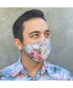 Reusable Fabric Face Mask, Coco Isles Blue