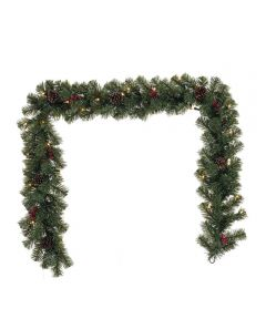 6 ft. Prelit Artificial North Pine Christmas Garland with Clear Incandescent Bulbs