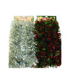 12 ft. Wave Christmas Tinsel Garland, Assorted Multicolors