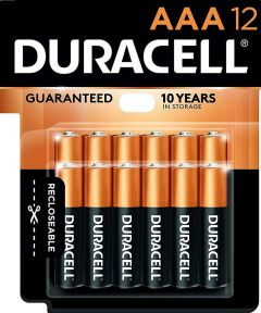 Duracell CopperTop AAA Alkaline Battery, 12 Pack