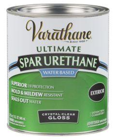Varathane Crystal Clear Spar Urethane, Quart, Gloss