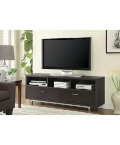 2-Drawer 60 in. Wide Rectangular TV Console, Cappuccino