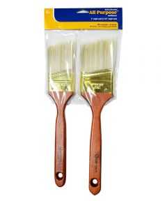 RollerLite 2 in. & 2-1/2 in. All Purpose Polyester Angle Sash Paint Brush Set