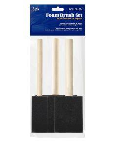 RollerLite 3-Piece High-Density Foam Brush Set (1 in. / 2 in. / 3 in.)