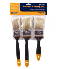 3-Piece Polyester Painter's Sash Brush Set (2 in. Flat / 1-1/2 in. Angle / 2 in. Angle)