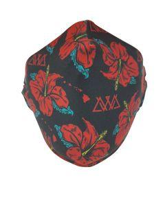 AWA Reusable Fabric Face Mask, Hibiscus