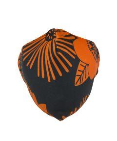 KICKS/HI Reusable Fabric Face Mask, Orange Floral