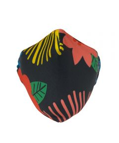 KICKS/HI Reusable Fabric Face Mask, Multicolor Floral