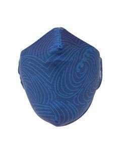 KICKS/HI Reusable Fabric Face Mask, Blue Waves