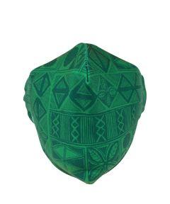 KICKS/HI Reusable Fabric Face Mask, Green Tapa