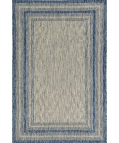 KAS 3 ft. 3 in. x 4 ft. 11 in. Provo Grey/Denim Cape Cod Area Rug