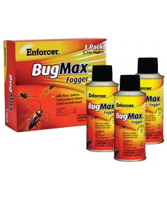Enforcer BugMax Water Based Roach Fogger, 3 Pack