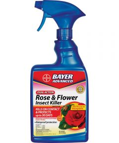 Bayer Advanced Dual Action Rose and Flower Insect Killer, 24 oz Container, White to Light Beige, Liquid