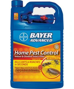 Bayer Advanced Fast-Acting Home Pest Control Insect Killer, 1 Gallon Ready-to-Use with Pistol Sprayer