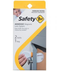 Safety 1st Adhesive Magnetic Lock System, 3 Piece Set