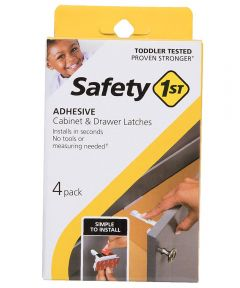 Safety 1st White Plastic Cabinet & Drawer Latches, 4 Count