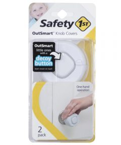Safety 1st White OutSmart Knob Covers, 2 Count
