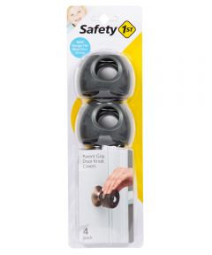 Safety 1st 3.5 in. Charcoal Parent Grip Door Knob Covers, 4 Count