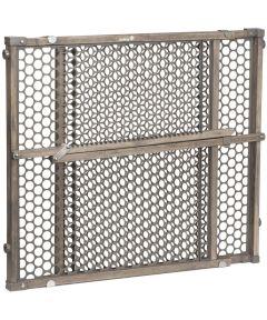 Safety 1st 28 in. to 42 in. Vintage Grey Wood Doorway Security Gate