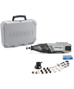 Dremel 8220 12 Volt Lithium-Ion Rotary Tool Kit with Battery / Attachment / 28 Accessories