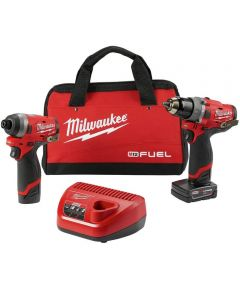 Milwaukee M12 FUEL 2-Tool Cordless Combo Kit with 1/2 in. Hammer Drill & 1/4 in. Hex Impact Driver