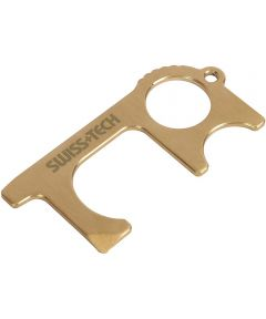 Swiss+Tech Brass No-Contact Keychain Multi Tool