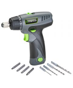 Genesis 8-Volt Lithium-Ion 2-Speed Screwdriver with LED Light & 8 Bits
