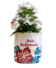 Mele Kalikimaka Christmas Fabric Plant Pouch