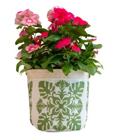 Green Quilt Fabric Plant Pouch