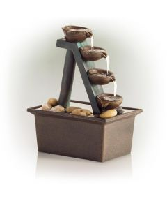 8 in. Tall 4 Tier Step Tabletop Water Fountain
