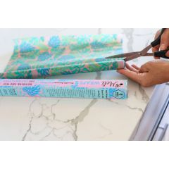 Meli Wraps Bulk Roll (42 in. x 13.5 in.) Reusable Beeswax Food Wrap, Kahanu (Monstera Pink) Print