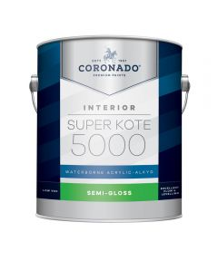 1 Gallon Super Kote 5000 Interior Semi-Gloss White Paint