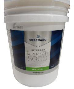 5 Gallon Super Kote 5000 Interior Semi-Gloss White Paint