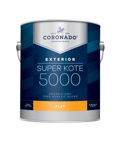 1 Gallon Super Kote 5000 Exterior Flat White Paint