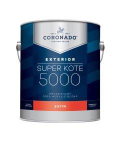 1 Gallon Super Kote 5000 Exterior Satin White Paint