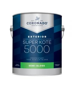 1 Gallon Super Kote 5000 Exterior Semi-Gloss White Paint