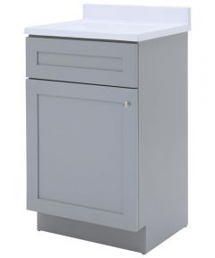 Foremost 18 in. x 16 in. Cason Bathroom Vanity with Cultured Marble Top, Cool Gray