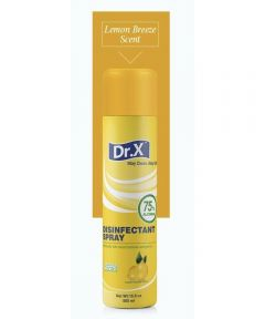 Dr. X Disinfectant Spray with 75% Alcohol, Lemon Scent