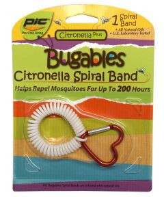 Pic Bugables Citronella Spiral Wristband Mosquito Repellent, Assorted Colors